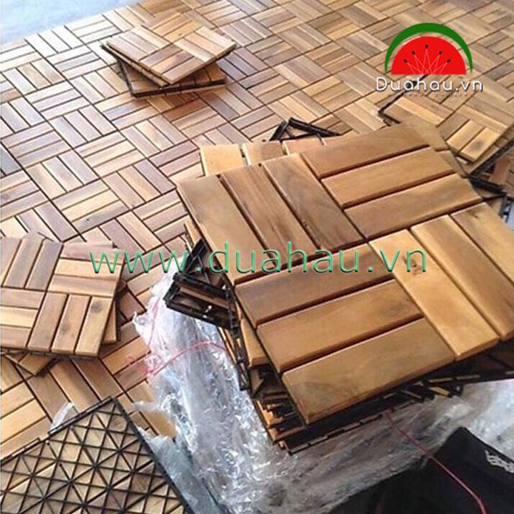 10 Vỉ gỗ nhựa lót sàn ngoài trời - 30x30x2.4cm